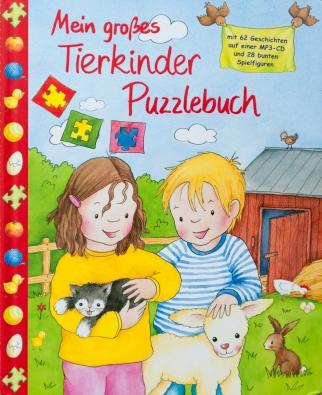 Mein großes Tierkinder Puzzle Buch
