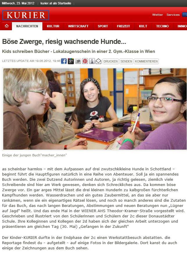 Buch-Projekt in der AHS Theodor-Kramerstraße, 1220 Wien