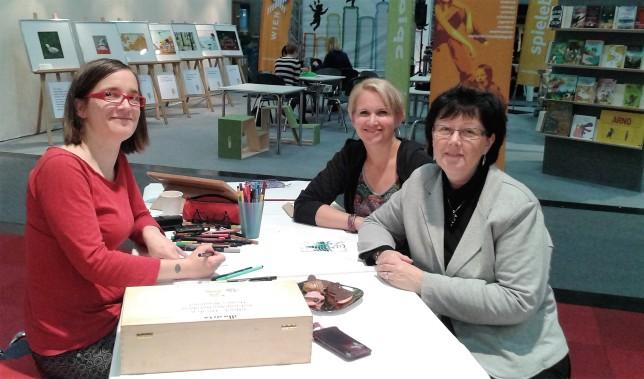 Eva Rudofsky (Illustratorin), Christine Auer (Autorin) und Sabina Sagmeister